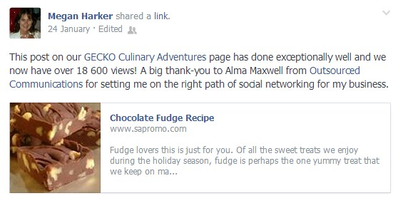 Positive feedback via Megan of Gecko Culinary Adventures